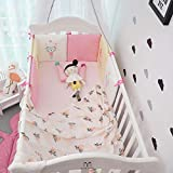 6 unids/set parachoques de cama de bebé infantil protector de cojín de cuna de algodón 100% algodón para bebés y niñas unisex parachoques de dibujos animados 30 * 30 * 6-6 piezas C oso azul