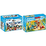 PLAYMOBIL Caravana de Verano 6671 + Family Fun Parque Infantil, a Partir de 4 Años (9423)