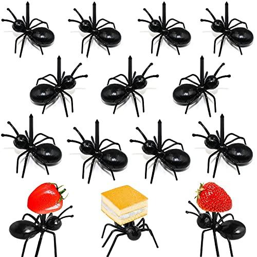 Postre de Fruta Palillo de Dientes Forks Tenedor de Niños Reutilizable de Plástico Hormigas Animales Aperitivo Forks para Aperitivo Tarta Tapas Fiestas Barra Fiestas Familiares de Cocina de Tenedores
