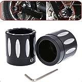 TUINCYN Kit di bulloni a dado per coperchio assale anteriore per motociclo profondo CNC nero per Harley Dyna V-Rod Touring Sportster XL883 XL1200 (1 set)