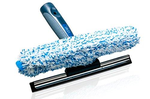 Putzen wie die Profis Fensterwischer und Fenster-Abzieher als Kombi-Set - Wischbreite 25cm - Profi Set 2in1 - Fensterreinigungsset - inkl. Gratisprobe Profi-Glasreiniger