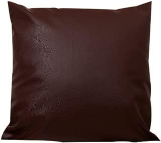 Kuhxz Trendy Throw Pillow Covers Cushion Case Leather Oil Wax Sofa Chair Home Decor for Healthier Life 45x45cm