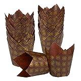 Juvale Tulip 100-piece–Lampadina decorativa pirottini di carta per cupcake e muffin,...