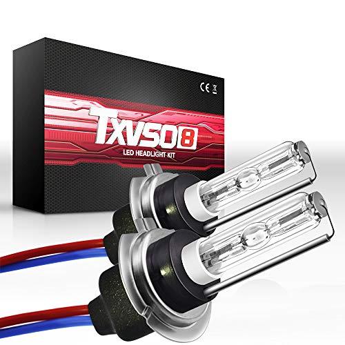 Sipobuy H7 55W VERSTECKTE Xenon-Birnen-Scheinwerfer-Wiedereinbaulampe, Metallunterseite, 12000k bläuliches Purpur, 2pcs/set