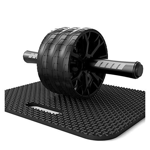YNLRY Gimnasio Fitness Equipments Rodillo de rueda abdominal antideslizante sin ruido para brazo cintura ejercicio pierna (color: negro)