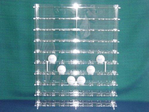 Unbekannt Golf-Ball Vitrine aus Acrylglas für 72 Golfbälle SL006 Rückwand Spiegel
