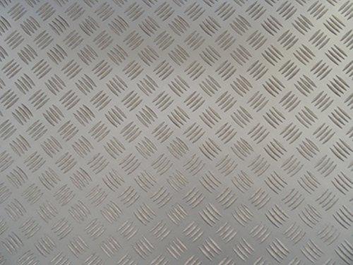 PVC in grauer Blech-Optik, grau - von Alpha-Tex 9.95€/m² (Länge: 500 cm, Breite: 200cm)