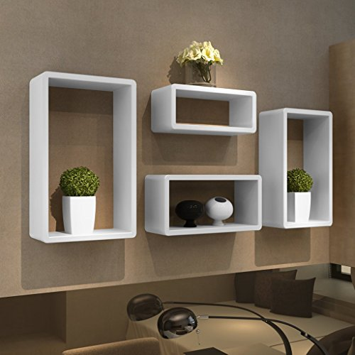 Festnight Etagères Cubes Etagères Design Murale Salon Blanc