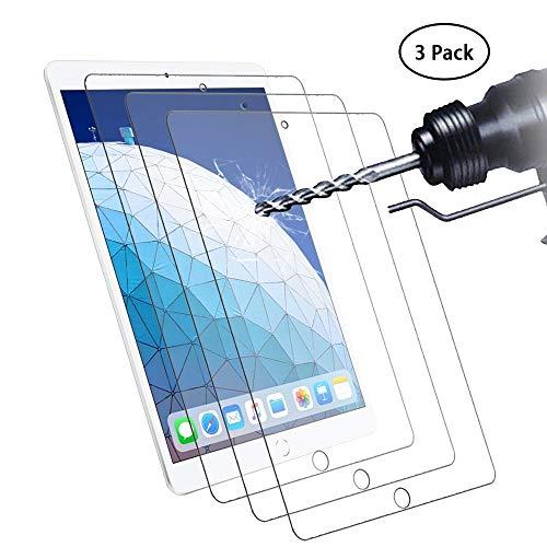 Didisky Panzerglas Hartglas Bildschirmschutzfolie für iPad Air 10.5 2019 / iPad PRO 10.5/ ipad air 3, [ 3er Pack ] Kratzfest, 9H Härte, Keine Blasen, High Definition, Einfach anzuwenden, Fall-fre&lich