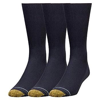 Gold Toe Men s Metropolitan Dress Socks 3 Pairs Navy Shoe Size  6-12