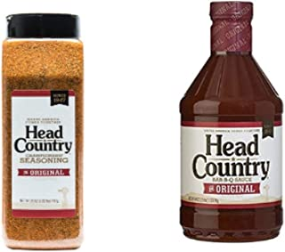 Head Country Bundle (2) includes (1) 26 Ounce Championship Seasoning and (1) 40 Ounce Original BBQ Sauce