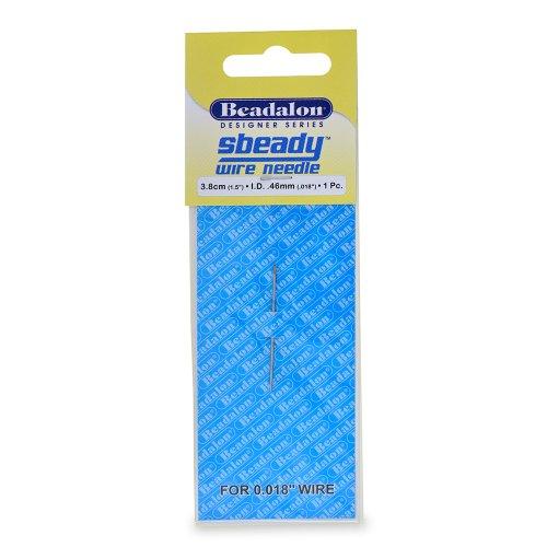 Beadalon Sbeady Wire Needles .018-Inch Diameter 1.5-Inch
