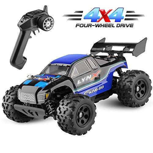Diza100 Ferngesteuertes Auto, RC Geländewagen Funkferngesteuertes Auto 4WD Motor 40 Killometer / h 1:22, Blau*