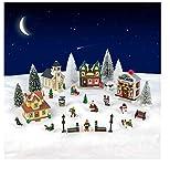 Cobblestone Corners 28 Piece Christmas Village Set - Christmas Village People - Christmas Village Accessories- Christmas Village...