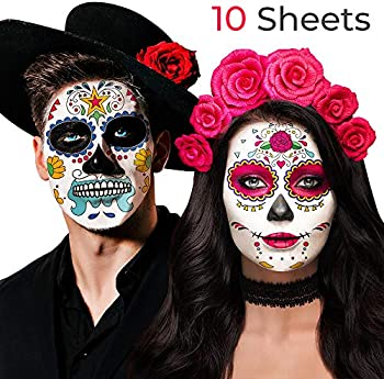 Jarvania Day of the Dead Face Skeleton Tattoos