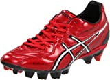 ASICS Men's Lethal Stats SK Soccer Shoe,Red/Silver,7 M US