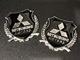 X2 VIP Metal Emblem Car Trunk Side Wing Fender Decal Badge Sticker for Mitsubishi