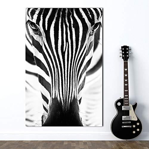 Arte de la Pared Pintura Cartel Impresiones Lienzo Imágenes Minimalismo Animal Cebra Resumen para Sala de Estar Sin Marco Decoración para el hogar 60 * 100 cm