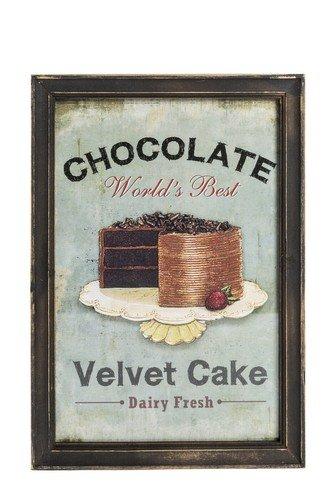 QUADRO DECORATIVO Shabby Chic Velvet Cake 25x33 cm