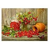 VOSAREA 5d DIY Diamante Pintura Kit Fruta patrón Rhinestone Bordado Punto de Cruz casa decoración de la Pared 40x30 cm