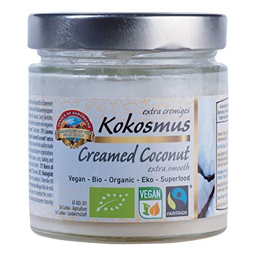 Bio rohes Kokosmus extra cremig FAIRTRADE 330g Rohkost Kokosbutter Kokoscreme frisch hergestellt in Österreich aus Sri Lanka Kokos 350ml