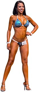 Competition Bikini Stunning Turquoise Suit with Scattered Stones NPC Bikini Competition Contest Suit