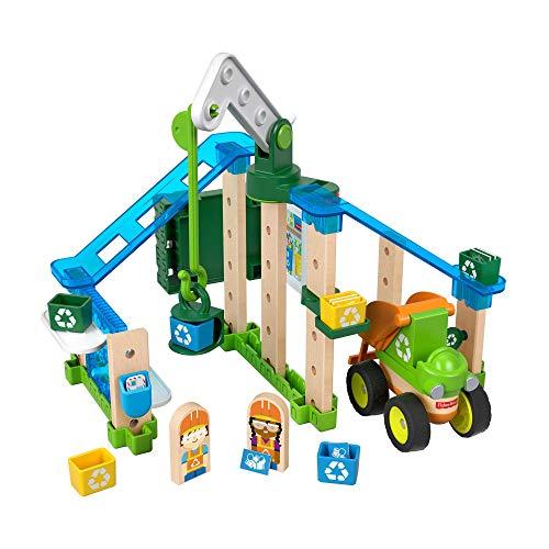 Fisher-Price Wonder Makers Centro de reciclaje, juguetes construcción niños + 3 años (Mattel GFJ12)
