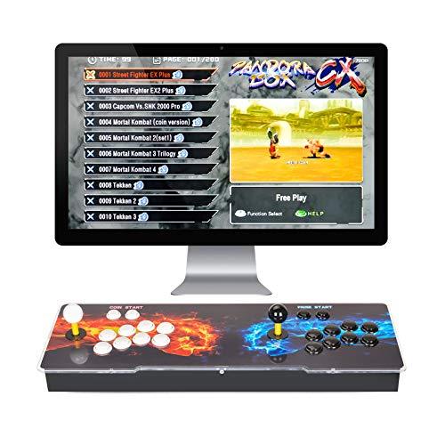 ARCADORA 3A 8 Botones Pandora Box CX Home Arcade Console 2800 en 1, Admite 4 Jugadores, Adición de Juegos, Juego Progreso Salvar, Búsqueda precisa de Juegos, clásica Videojuegos Máquina 720P