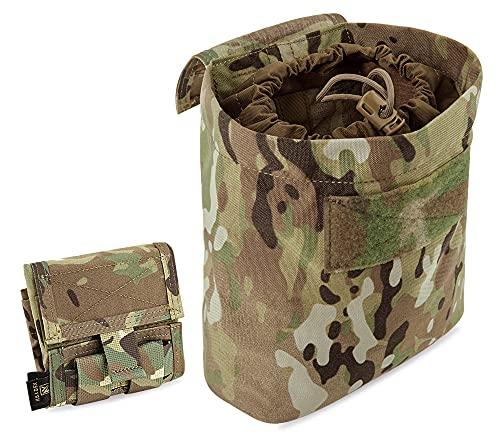 KRYDEX Molle Dump Pouch Roll-Up Drawstring Magazine Utility Pouch Folding Dump Bag (Multicam)