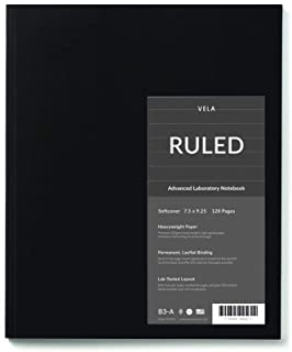 Vela Sciences Compact Lab Notebook, 7.5 x 9.25 inches, 128 Pages (1-Pack, Ruled)