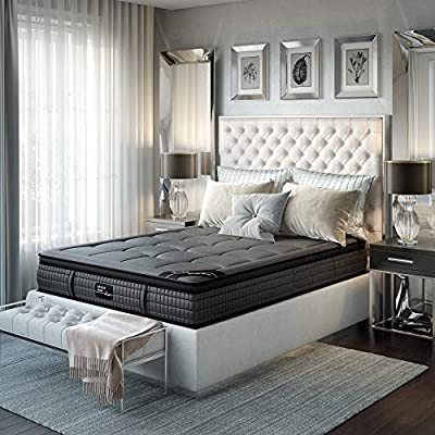 Savile Row No. 1 Premium Innerspring and Memory Foam Hybrid Euro Top 14.5 Inch Luxury Mattress, King