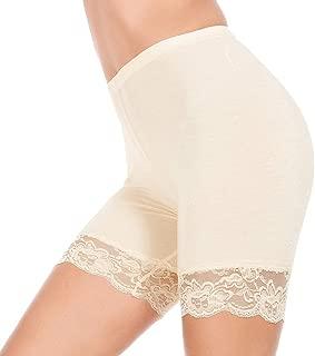 MANCYFIT Slip Shorts for Women Short Leggings Mid Thigh Legging Plus Size Lace Undershorts