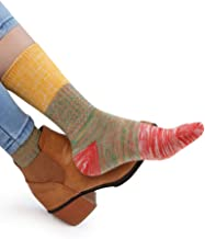 VERO MONTE 4 Pairs Colorful Patterned Cotton Socks for Women Casual Crew Socks