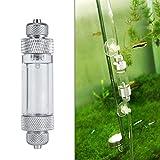 Contador de burbujas de CO2, herramienta de mantenimiento del tanque del regulador del difusor del acuario de la aleación de aluminio del CO2 para la medición de dióxido de carbono(Sola cabeza)