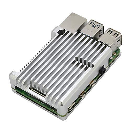 knowledgi - Carcasa para Raspberry Pi 4 Modelo B (Carcasa de Metal, disipación del Calor Solo para Pi 4B, Carcasa sin Ventilador)