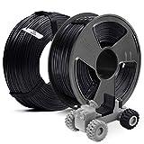 PETG Filament 1.75, SUNLU 2KG PETG 1.75mm of MasterSpool, Fit FDM 3D Printer, 1KG Spool, Pack of 2, PETG Black+Black