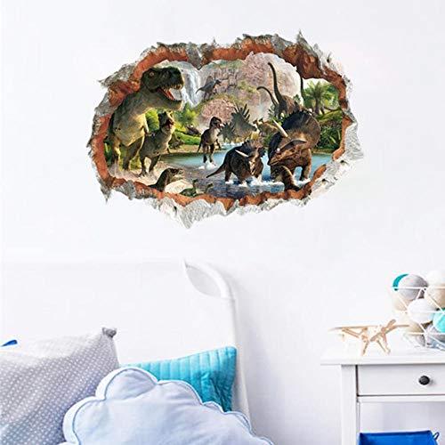 3d Dinosaurier Wandaufkleber Kinderzimmer Kinder Schlafzimmer Abziehbilder Wanddekoration DIY Home Decoration Geburtstagsgeschenk 50 * 70cm