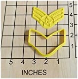 US Air Force Senior Airman Stripes Shaped Cookie Cutter and Stamp #1056