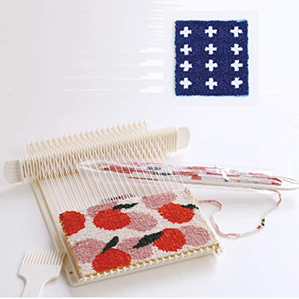 ペイン対応するコンピューター卓上手織機 絵織亜ポータブルと絵織糸(クロス)のセット