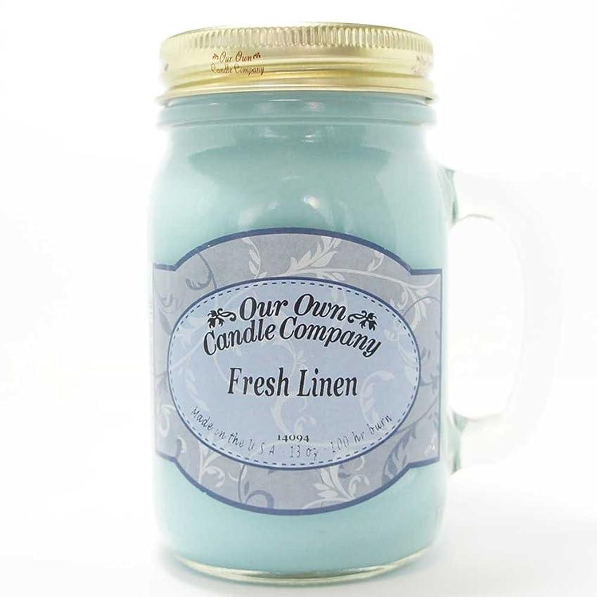 ありふれた夫舌なアロマキャンドル メイソンジャー フレッシュリネン ビッグ Our Own Candle Company Fresh Linen big