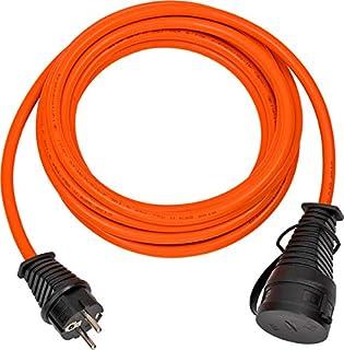 Brennenstuhl BREMAXX Verlängerungskabel 5m Kabel in orange, für den Einsatz im Außenbereich IP44, Stromkabel einsetzbar bis -35°C, Öl- und UV-beständig