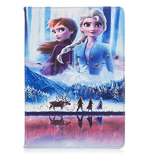 Galaxy Tab A 10.1 T510/T515 Cartoon Case, Hwota Cute Cartoon Fashion Elsa Anna Olaf Slim Flip Folio Stand Leather Case Smart Cover for Samsung Galaxy Tab A 10.1 Inch SM-T510/T515 2019 (Elsa Anna)