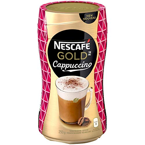 NESCAFE Gold Cappuccino Coffee Jar, 250g/8.8 oz., {Imported from Canada}