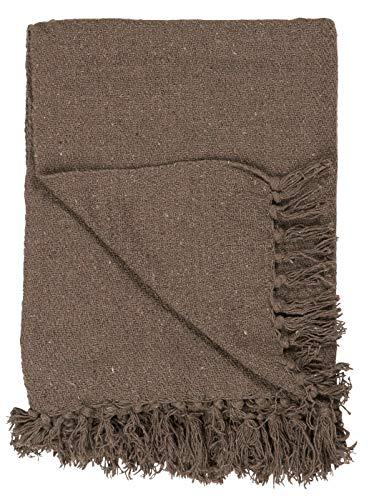 IB Laursen - Plaid, Decke, Überwurf - braun - Baumwolle - 130 x 170 cm