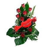 Florclick - Abrazos 9 Rosas Rojas- Ramo de flores naturales en 24 horas y envío GRATIS
