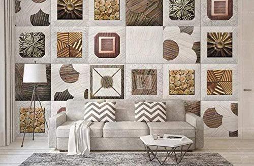 XHXI Fondos de pantalla de patrón nórdico minimalista Papel tapiz no tejido 3D Imágenes de pared modernas Decoración de par papel Pintado de pared tapiz Decoración dormitorio Fotomural-350cm×256cm