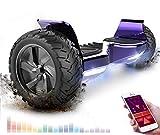 """RCB Hover Scooter Board 8.5' Self Balancing Scooter Elektro Scooter E-Skateboard mit Geländewagen für alle Gelände 8.5 """"Hummer Integrierte Bluetooth-APP-LED mit 2 * 350W leistungsstarkem Motor"""