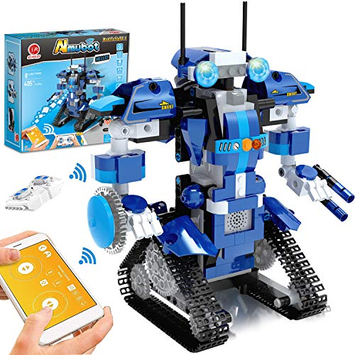GP TOYS STEM Robot Building Kits for Kids Remote Control Engineering Science Educational Learning Science Building Toys for Boys and Girls