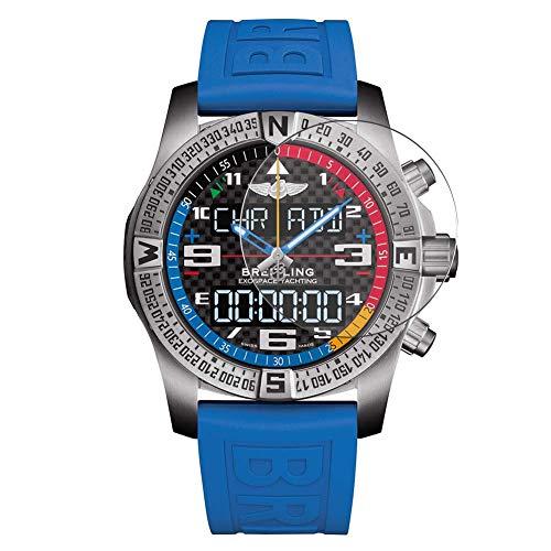 Vaxson 3 Stück Schutzfolie, kompatibel mit Breitling Exospace B55 smartwatch Smart Watch, Displayschutzfolie Bildschirmschutz Blasenfreies [nicht Panzerglas]