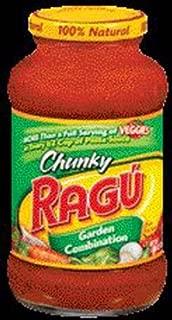 Ragu Chunky Garden Combination Pasta Sauce 24 oz (Pack of 12)